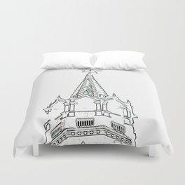 Kremlin Chimes- white Duvet Cover