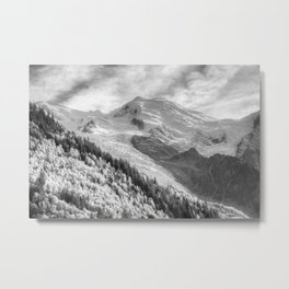Mont Blanc Monochrome Metal Print