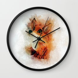 Cute Fox Wall Clock
