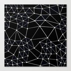 Seg Black Canvas Print