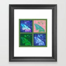 Flowers & Butterflies 2x2 Framed Art Print