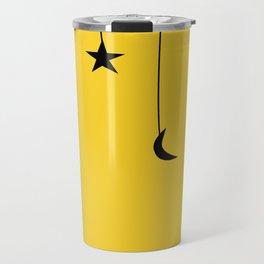 yellow falling star Travel Mug