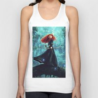 be brave Tank Tops featuring Brave by Juniper Vinetree