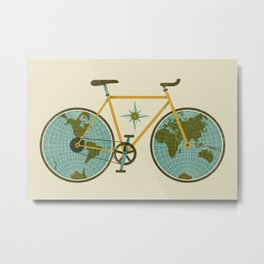 Ride For The World Metal Print