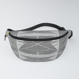 BW pixalated Fanny Pack