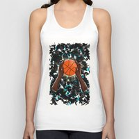 basketball Tank Tops featuring  BasketBall  by imrvphoto