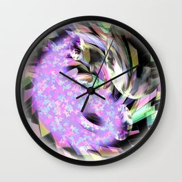 Splash of color Wall Clock