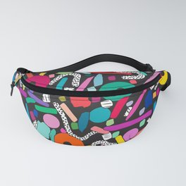 CIRCLES IN MOTION - colour bomb Fanny Pack