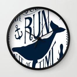 Oceans---blue Wall Clock
