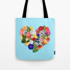 Heart Floral Tote Bag