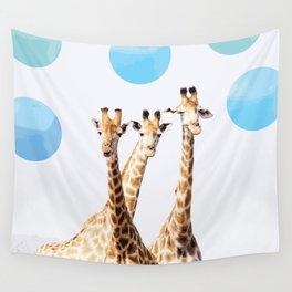 Giraffe with sky polka dots #society6 Wall Tapestry