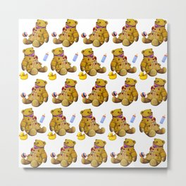 Bears with rubberduck ...... Metal Print