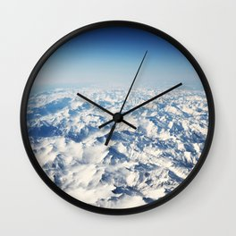 Pyrenees Snow Mountain Landscape Wall Clock
