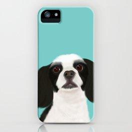 Black + White Cocker Spaniel iPhone Case