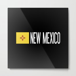 New Mexico: New Mexican Flag & New Mexico Metal Print