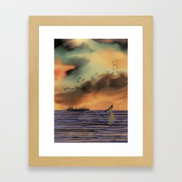 Sunrise in Byron Bay Framed Art Print