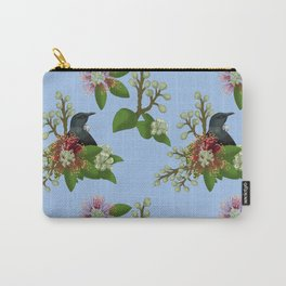 Tui in Pohutukawa Flowers Carry-All Pouch