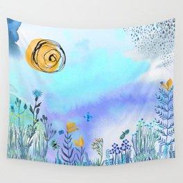 Blue Garden II Wall Tapestry