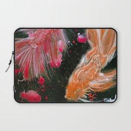 Splendens Splatter in Red and Orange Laptop Sleeve