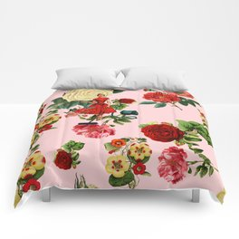 Keep it clean floral collage pink Comforters