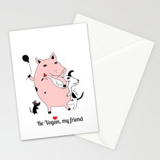 Be Vegan, my friend Stationery Cards