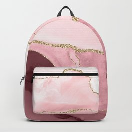 Blush Marble Art Landscape Backpack