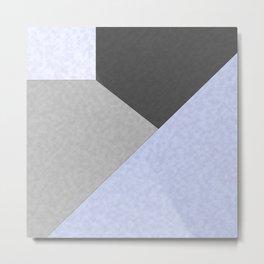 Gray , blue , patchwork Metal Print