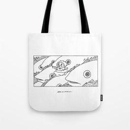 Ponyo Running Tote Bag