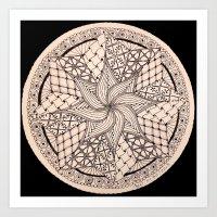 zentangle Art Prints featuring ZENTANGLE by Nogland
