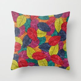 Let the Leaves Fall #02 Throw Pillow