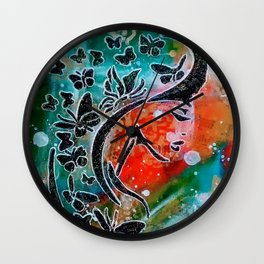 Madam Butterfly Wall Clock