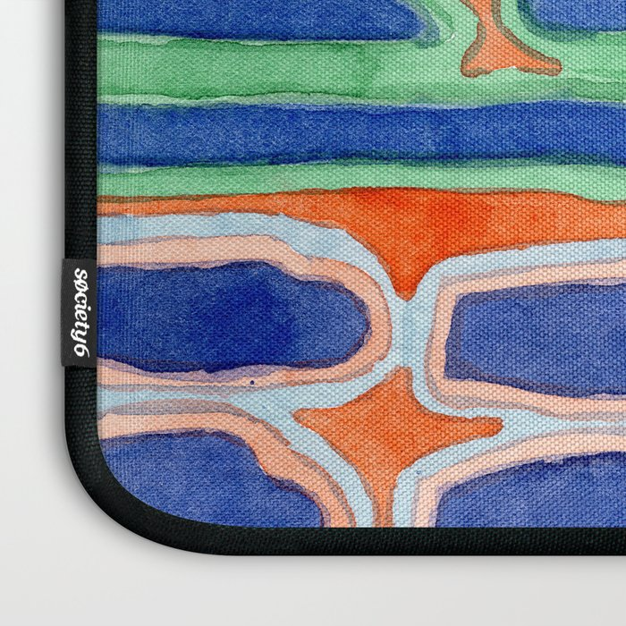 Blue Shapes Pattern Laptop Sleeve
