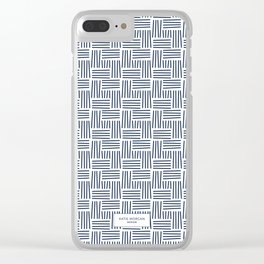 WEAVE PATTERN • INDIGO Clear iPhone Case