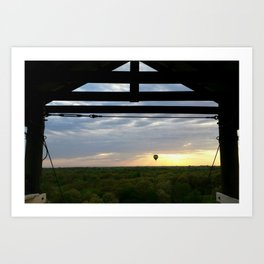 Two Adventures at Sunset Art Print
