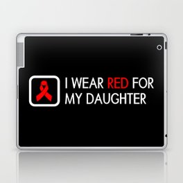 Red Ribbon: Red for my Daughter Laptop & iPad Skin