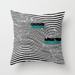 Striposcopy Throw Pillow