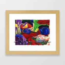 Surrealistic Mushrooms Framed Art Print