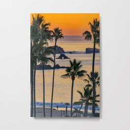 Palms and Arch Rock at Sunrise Metal Print