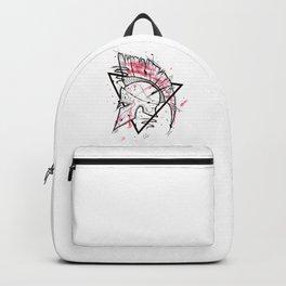Spartan Helmet Handmade Drawing, Made in pencil and ink, Tattoo Sketch, Tattoo Flash, Blackwork Backpack
