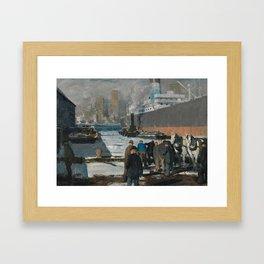 George Bellows, Men of the Docks 1912 Framed Art Print