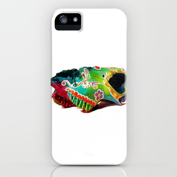 Colorsfull sheep skull iPhone Case