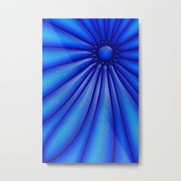 Flower Blues Metal Print
