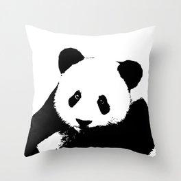 Giant Panda in Black & White Throw Pillow
