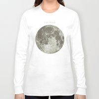 astronomy Long Sleeve T-shirts featuring The Moon  by Terry Fan
