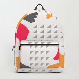 Modern triangles and happy colors Backpack