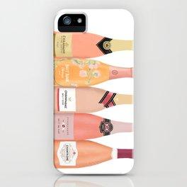 Rose Champagne Bottles iPhone Case