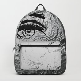 Beautiful silver lady Backpack