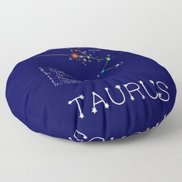 Zodiac Constellation Taurus. Real Color Of The Stars Floor Pillow