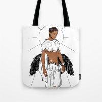 apollo Tote Bags featuring Apollo by Cassandra Jean
