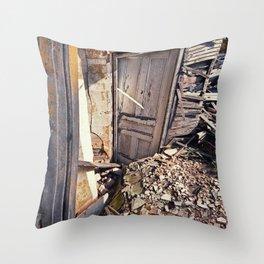 Sinking Doorway Throw Pillow